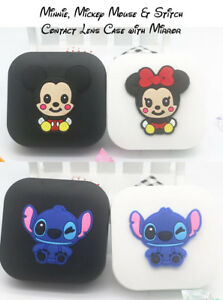 Travel Minnie, Mickey, Stitch & Marvel Contact Lens Case/Mirror - Fast Free Post