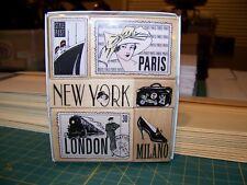 Hero Arts Rubber Stamp Set, Travel, 6, New