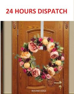 Christmas Winter Wreath Door Hanger Metal Hook Xmas Decoration Wreath Craft Home