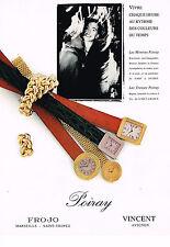 PUBLICITE ADVERTISING 024   1990   POIRAY   collection montres