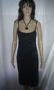 KAREN MILLEN Retro Style Evening Cocktail Dress. Sequinned. Wiggle.   SIZE 12