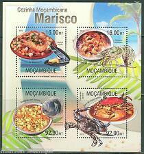 Mozambique 2013 Seafood Sheet Mint Nh