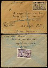 POLAND REGISTERED 1946 to POSB LONDON GB...POLISH SAVINGS SECTION...BARCINO