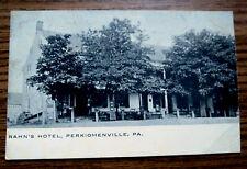 "PERKIOMENVILLE PA - RAHN""S HOTEL - OLD POSTCARD"