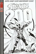 Spawn 200 McFarlane  1 in 50 Black and White Sketch Variant Cover
