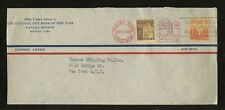 METER FRANKING 1943 AIRMAIL COVER to NEW YORK...+ADHESIVES...21 DEC