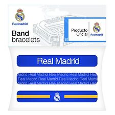 OFFICIALLY LICENSED REAL MADRID BRACELET BANDS 3 ASSORTED ONE SIZE FITS ALL