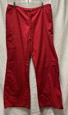 Sb Scrubs Classic Red Size Large Scrub Pants Style 967