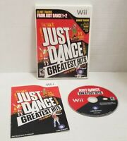 Just Dance: Greatest Hits (Nintendo Wii, 2012) CIB Complete TESTED Free Shipping
