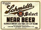 Schmidt's Select Near Beer NEW Metal Sign: Jacob Schmidt Brewery, St. Paul, MN