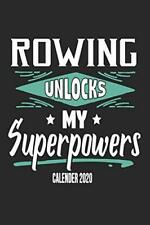 Rowing Unlocks My Superpowers Calender 2020: Funny Cool Rower Calender 2020 | M