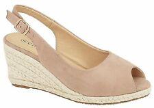 Sandalias para mujer señoras Hebilla Cuña Micro Gamuza Alpargatas Zapatos Talla