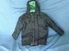 Boys 4-5 Years - Navy Blue Hooded Showerproof  Warm Coat - F&F