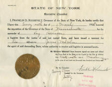 FRANKLIN D. ROOSEVELT - DOCUMENT SIGNED 03/26/1932 WITH CO-SIGNERS