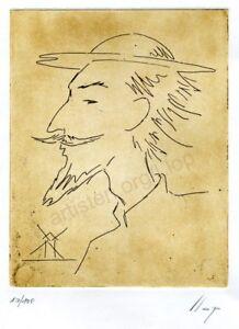 Llop - grabado aguafuerte en plancha de cobre - 'Quixot 19' estampa 25x18
