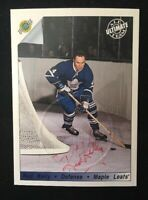 RED KELLY 1992 ULTIMATE AUTOGRAPHED SIGNED AUTO HOCKEY NHL CARD EMBOSSED 79