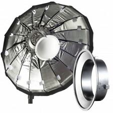 60cm Silver Folding Beauty Dish / Softbox to fit Lencarta / Bowens Studio Flash