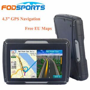 """4.3"""" Motorcycle GPS Navigation Car Truck Bluetooth SAT NAV + Free Map Waterproof"""
