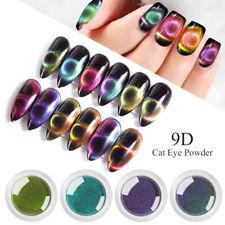 9D Magnetic Nail Art Glitter Powder Dust Chameleon Uv Gel Acrylic Nail Tip Decor