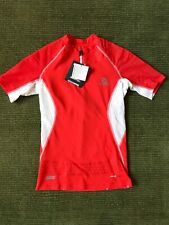 NWT Salomon S-LAB shirt, Exo Zip Tee, Red, Size Small S
