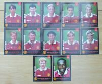 1998-99 Man Utd Portrait Signed Unsigned Club Cards Individually Priced UPDATED