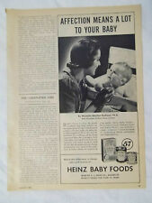 1944 Magazine Advertisement Page For Heinz 57 Baby Foods Mom & Baby Vintage Ad