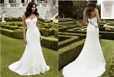 Lace Mermaid Wedding Dress Cheap Bridal Gown Lace up Back In Stock