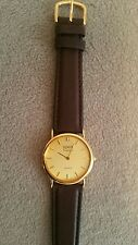 vintage geneve classic quartz mens watch