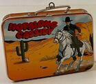 2000 Hopalong Cassidy Pressed Tin Lunch Box Hallmark Ornament - Lunch Box Only