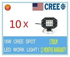 10pcs 18W Flush Mount CREE Square  LED Work Light Spot Bumper Off Road 4WD TRUCK