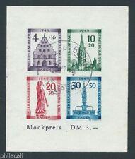 GERMANY ,Mi Block 1 B French Zone Baden Freiburg Used Reich 1949 SHEETS 5NB8b