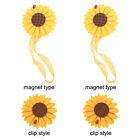 Coppia di fermatende magnetiche per tende Fermacravatte a forma di girasole