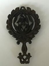 """New listing Collectible Vintage Cast Iron Trivet - Wilton Eagle and Heart 5"""" x 3"""""""