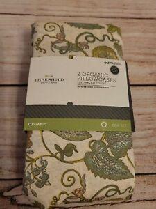 NEW 325 Thread Count Organic Cotton Pillowcases Set of 2 Standard flor Threshold