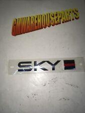 "2007-2010 SATURN SKY CHROME ""SKY"" WITH RED LINE NEW GM #  15258628"