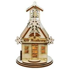 Elf Academy School House Old World Christmas Wooden Cottage Ornament Nib 80019