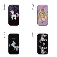 Unicorn Magic Pattern FLIP/WALLET Phone Case Cover iPhone/Samsung All models