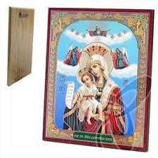 Ikone GM Würdig ist Holz 20 x 24 икона Достойно Есть Богородица ikona