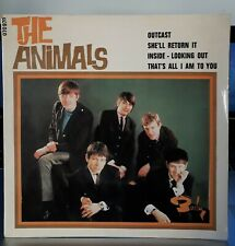 """EP 45T The Animals   """"Inside, looking out - Outcast"""" - (TB+/TB+)"""