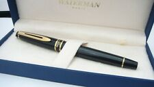 More details for gorgeous waterman expert ii, in box, black laque, broad nib, france