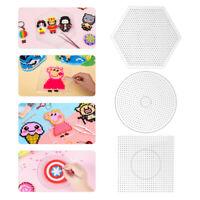 3pcs Kid 5mm Pegboard Perler Bead Hama Fuse Beads Clear Design Board DIY