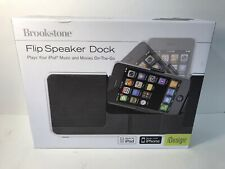 Brookstone iDesign Flip Speaker Dock For iPhone & iPod-uses Batteries & AC Power