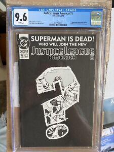Justice League America (1987) #71 - DC - CGC 9.6 NM+ - Superman