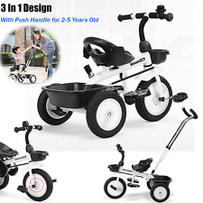Kids Tricycle Toddler Bicycle Stroller Trike Bike +Push Handle For 1-5 Years Old