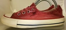 Womens Converse Washed Shoreline Slip-On Sneaker Shoes Size 6 Color Red