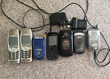 LOT OF 8 OLD VINTAGE USED CELL PHONES NOKIA SPRINT VERIZON
