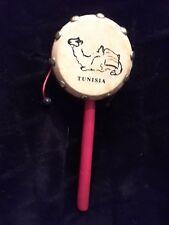 Tunisia Hand Drum Vintage Hand Made Collectors Item