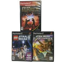 Star Wars: Episode III & Lego II & Starfighter PlayStation 2 PS2 Video Game