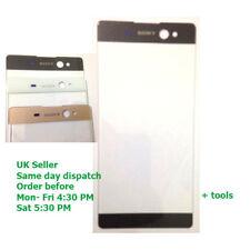 Sony Xperia Xa Ultra C6 LCD Pantalla Táctil de Cristal Exterior Frontal F3211 F3212 Negro OEM