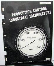 1956 Stewart Warner Industrial Tachometers Sales Catalog #1130 Mechanical Gauge